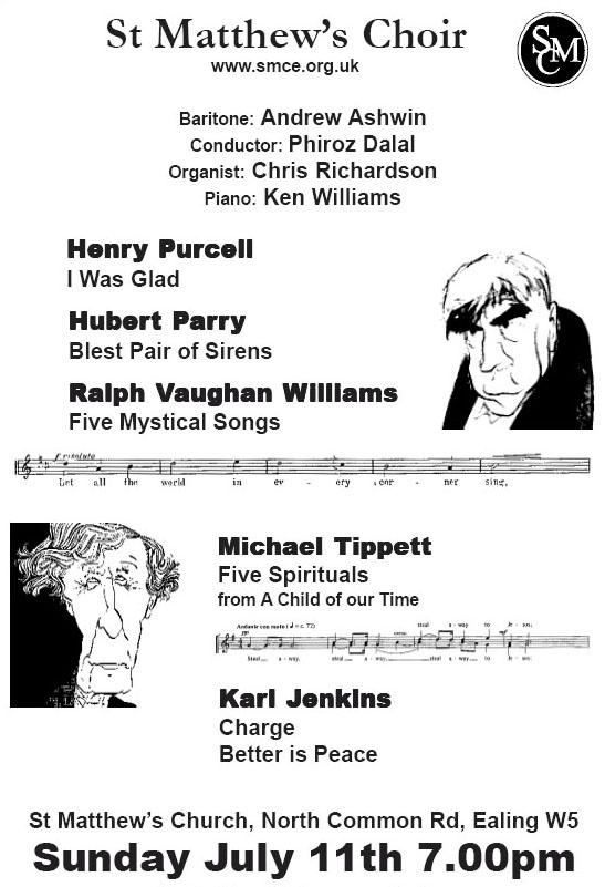 Purcell, Parry, Tippett, Vaughan Williams, Jenkins