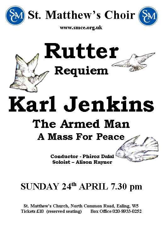 John Rutter Requiem & Karl Jenkins The Armed Man